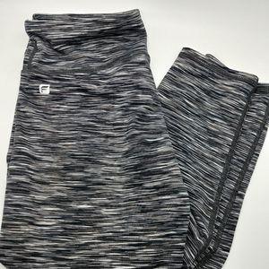 Fabletics Gray & White Leggings 26W x 28L